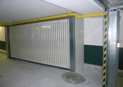Portes automatiques collectives de parking