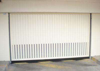 baradage de portes automatiques de garage collectives ventilation basse