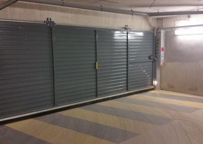 Livraison Eiffage portes automatiques collectives intérieur